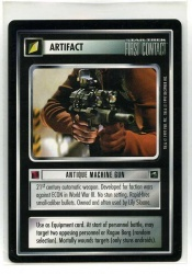 Star Trek CCG First Contact - Decipher 1997 - Antique Machine Gun - Artifact - Rare - BB