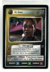 Star Trek CCG First Contact - Decipher 1997 - Lily Sloane - Personnel: Non-Aligned - Rare - BB