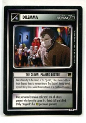 Star Trek CCG Holodeck Adventures - Decipher 2000 - The Clown: Playing Doctor - Dilemmas - Rare - BB