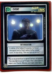 Star Trek CCG Reflections - Decipher 2000 - Interrogation - Events - Very Rare - Foil - BB