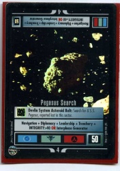 Star Trek CCG Reflections - Decipher 2000 - Pegasus Search - Missions - Very Rare - Foil - BB