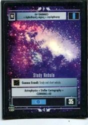 Star Trek CCG Reflections - Decipher 2000 - Study Nebula - Missions - Very Rare - Foil - BB