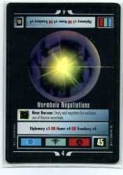Star Trek CCG Reflections - Decipher 2000 - Wormhole Negotiations - Missions - Very Rare - Foil - BB