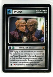 Star Trek CCG Rules of Acquisition - Decipher 1999 - Protection Racket - Incidents - Rare - BB