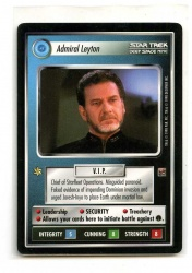 Star Trek CCG The Dominion - Decipher 1998 - Admiral Leyton - Personnel: Federation - Rare - BB