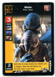 Star Wars Young Jedi CCG Enhanced Battle of Naboo - Decipher 2000 - NM-MT - P15 - Watto Risk Taker - Sealed Pack