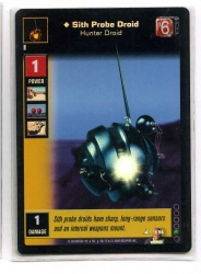 Star Wars Young Jedi CCG Jedi Council - Decipher 2000 - Sith Probe Droid, Hunter Droid - Foil