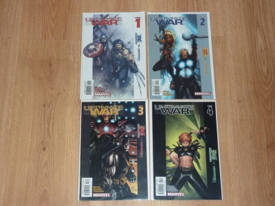 Ultimate War #1 to #4 - Marvel 2003 - VFN to VFN+ - Complete 4 Part Set