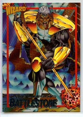 Wizard Foil Card - #6 - Image - Battlestone - Rob Liefeld