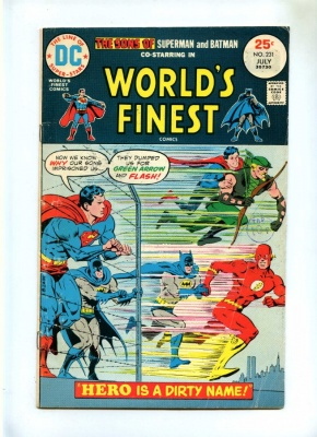 Worlds Finest #231 - DC 1975 - VG/FN - Sons of Superman and Batman
