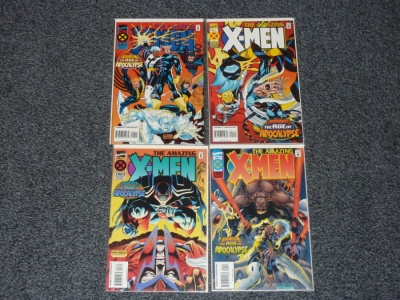 Amazing X-Men #1 to #4 - Marvel 1995 - Complete Set - Age of Apocalypse