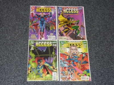 DC Marvel All Access #1 to #4 - DC 1996 - Complete Set