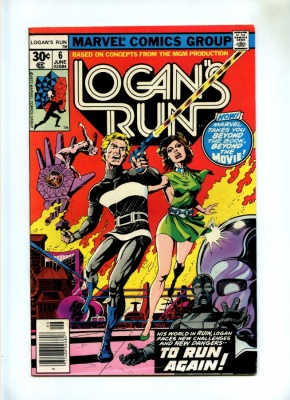 Logans Run #6 - Marvel 1977 - 1st Solo Thanos Story