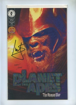 Planet of the Apes The Human War Set 1 to 3 - Dark Horse 2001 - VFN+ to NM - Dynamic Forces Ltd Series Signed Ian Edgington