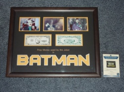 Batman Movie  - Original Screen Used Joker's Money Prop - Framed