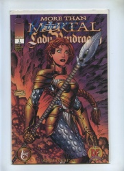 More Than Mortal Lady Pendragon 1 - Image 1999 - VFN- - Dynamic Forces Alt Cover Signed Brandon Peterson